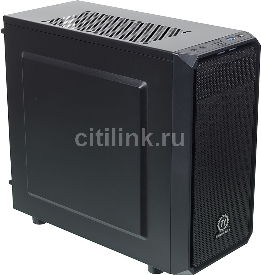 Корпус mATX THERMALTAKE Versa H15, Micro-Tower, без БП,  черный