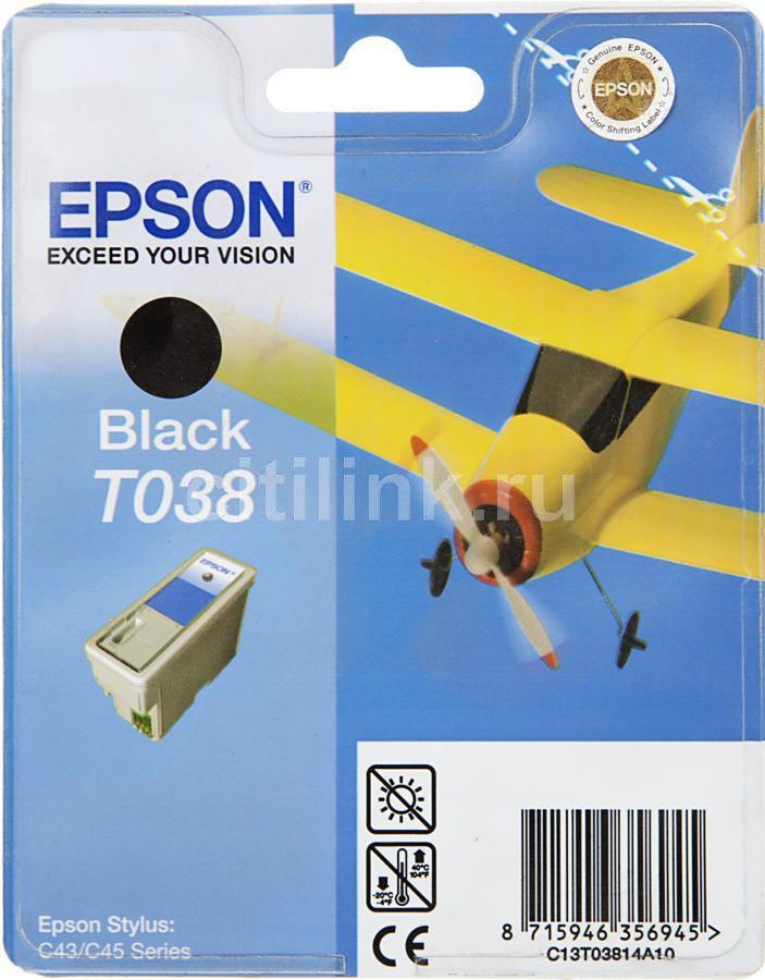 Картридж EPSON C13T03814A черный [c13t03814a10]