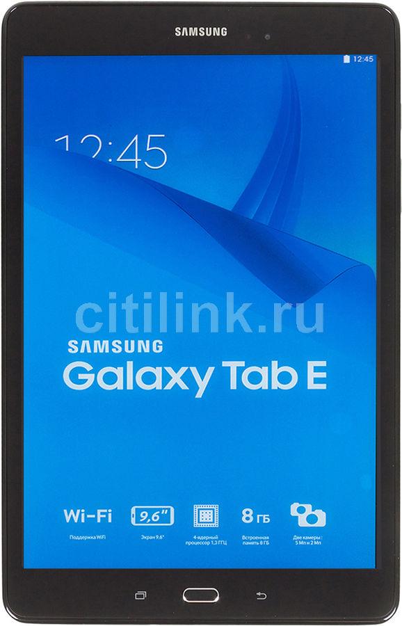 Планшет SAMSUNG Galaxy Tab E SM-T561, 1.5Гб, 8GB, 3G, Android 4.4 черный [sm-t561nzkaser] 360 rotating cover capa para for case samsung galaxy tab e 9 6 sm t560 t561 pu leather stand smart tablet covers w stylus pen