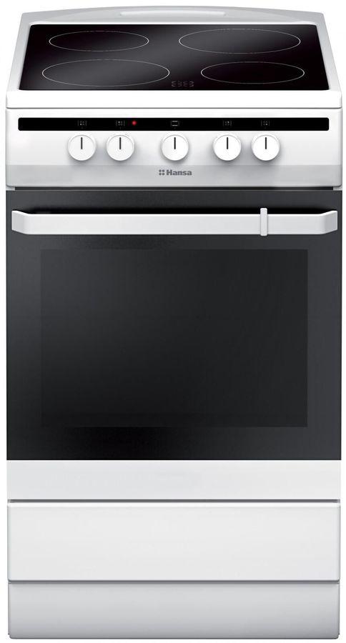 Электрическая плита HANSA FCCW54002,  стеклокерамика,  белый