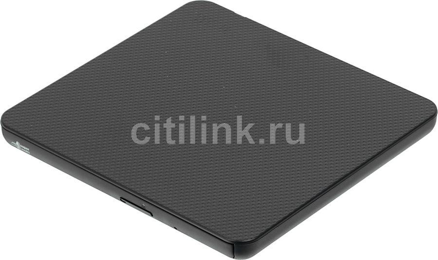 Оптический привод DVD-RW LG GP80NB60, внешний, USB, черный,  Ret