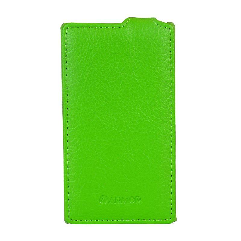 Чехол (флип-кейс) ARMOR-X flip full, для Nokia Lumia 435 Dual, зеленый