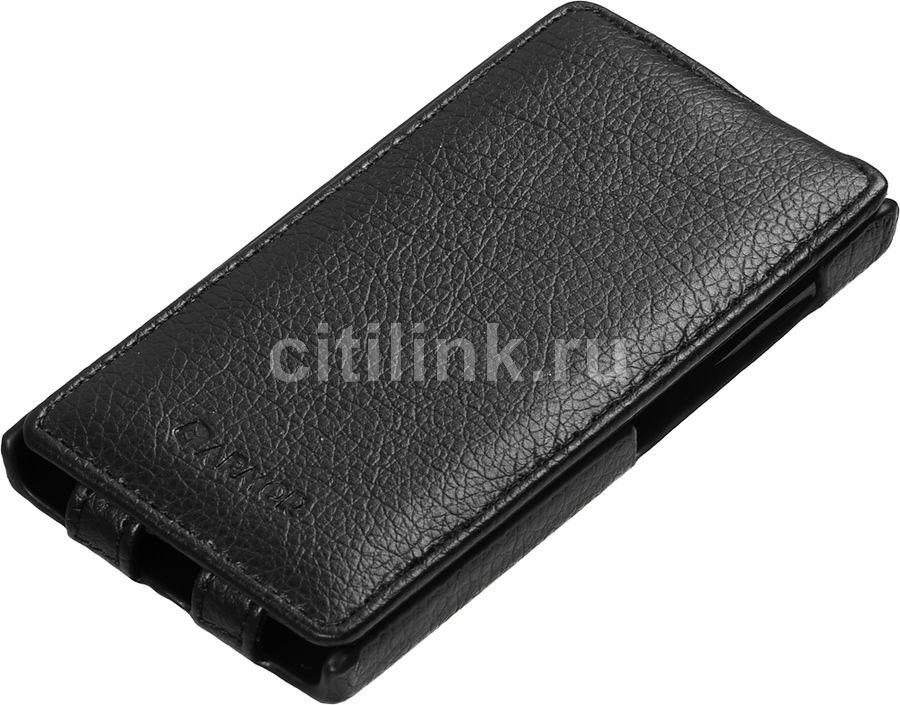 Чехол (флип-кейс) ARMOR-X flip full, для Nokia Lumia 532 Dual, черный