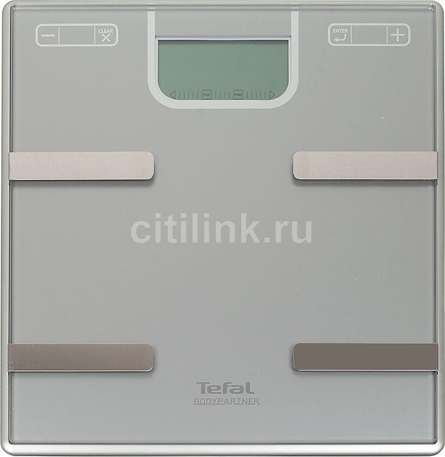 Напольные весы TEFAL BM6000V0, до 160кг, цвет: серебристый [2100067513]