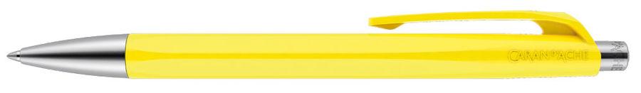 Ручка шариковая Carandache Office INFINITE (888.240) корпус:Lemon Yellow M синие чернила без упак.