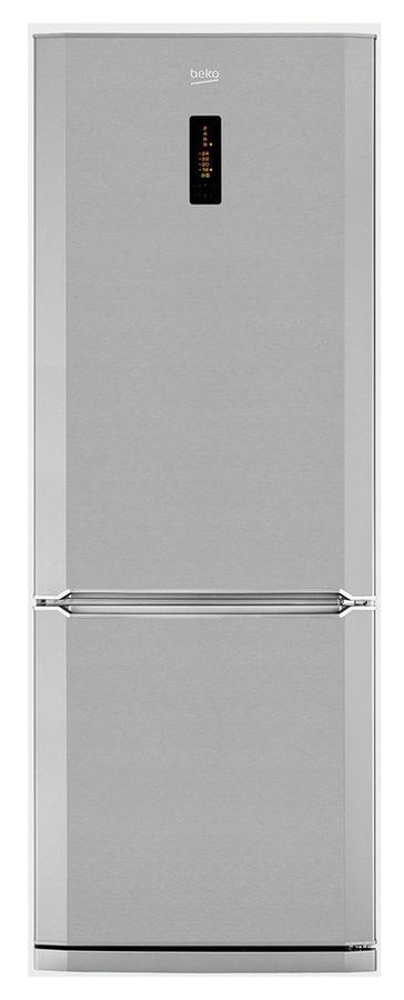 Холодильник BEKO CN148220X,  двухкамерный,  нержавеющая сталь [cn 148220 x]