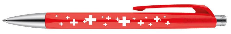 Ручка шариковая Carandache Office INFINITE (888.253_GB) Swiss Cross M синие чернила подар.кор.