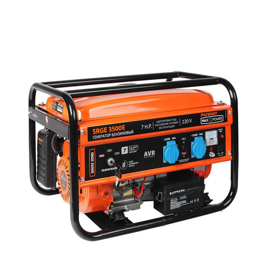 Бензиновый генератор PATRIOT SRGE 3500E,  220 В,  2.8кВт [474103150]