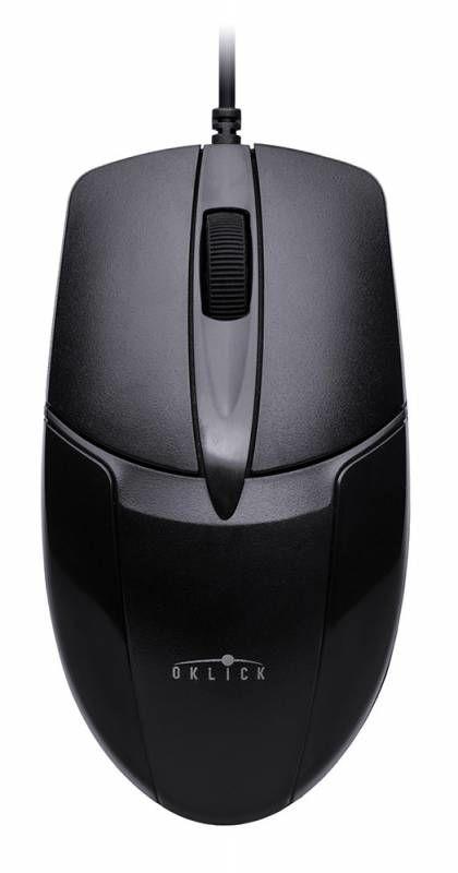 Мышь OKLICK 145M оптическая проводная PS/2, черный [m-8009]