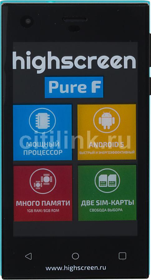 Смартфон HIGHSCREEN Pure F синий