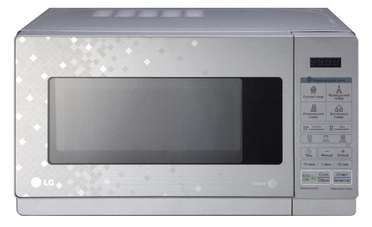 Микроволновая печь LG MH6043HANS, серебристый