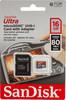 Карта памяти microSDHC UHS-I SANDISK Ultra 80 16 ГБ, 80 МБ/с, 533X, Class 10, SDSQUNC-016G-GN6IA,  1 шт., переходник SD вид 1