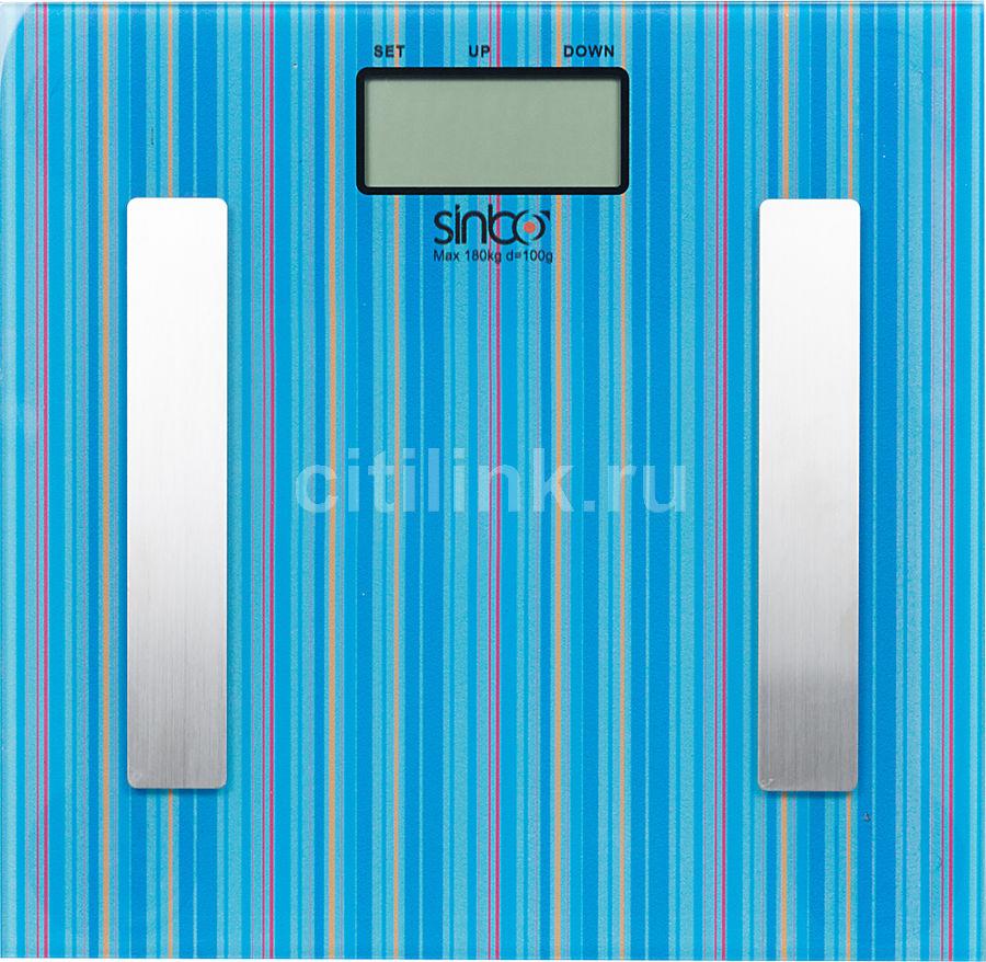 Весы SINBO SBS 4432, до 180кг, цвет: синий