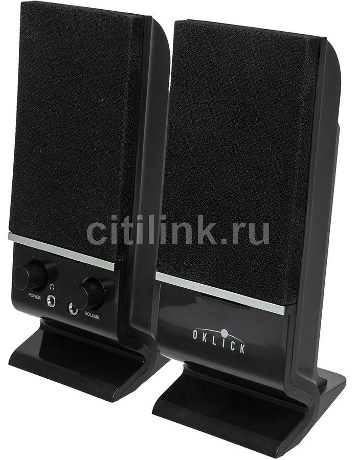 Колонки OKLICK OK-115U,  2.0,  черный [ok-115u black]
