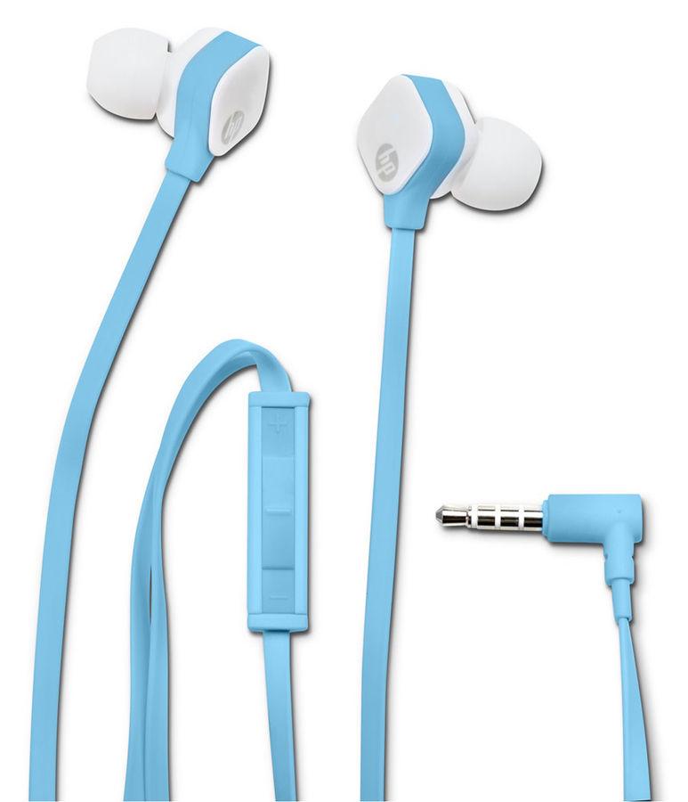 Гарнитура HP In-Ear H2310, M2J39AA, вкладыши,  голубой, проводные