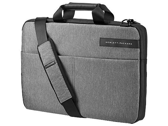 "Сумка для ноутбука 15.6"" HP Signature Slim Topload, черный/серый [l6v68aa]"
