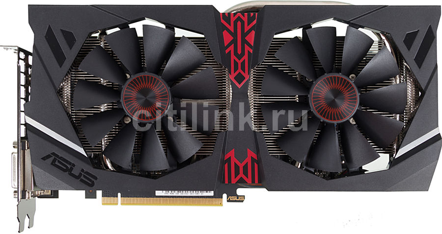 Видеокарта ASUS Radeon R9 380,  STRIX-R9380-DC2-2GD5-GAMING,  2Гб, GDDR5, Ret