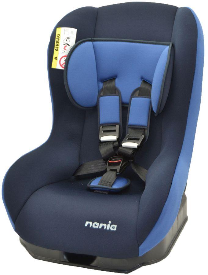 Автокресло детское NANIA Basic Comfort ECO, 0+/1, черный/синий [133079]