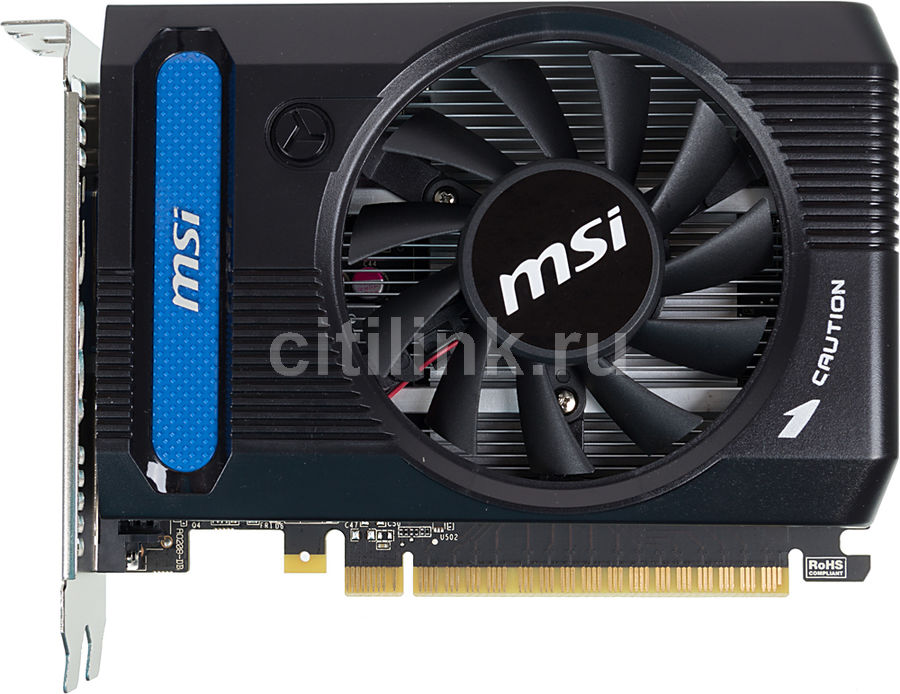 Видеокарта MSI GeForce GT 730,  N730K-2GD3/OC,  2Гб, GDDR3, OC,  Ret