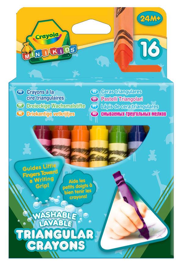 Мелки восковые Crayola 52-016T (16 цветов) картонная коробка