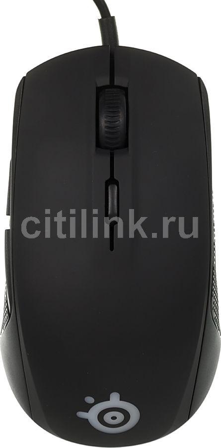 Мышь STEELSERIES Rival 100 62341 оптическая проводная USB, черный