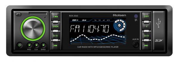 Автомагнитола ROLSEN RCR-256G,  USB,  SD/MMC