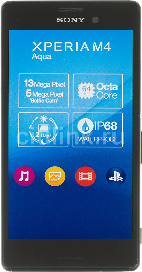 Смартфон SONY Xperia M4 aqua E2303  черный
