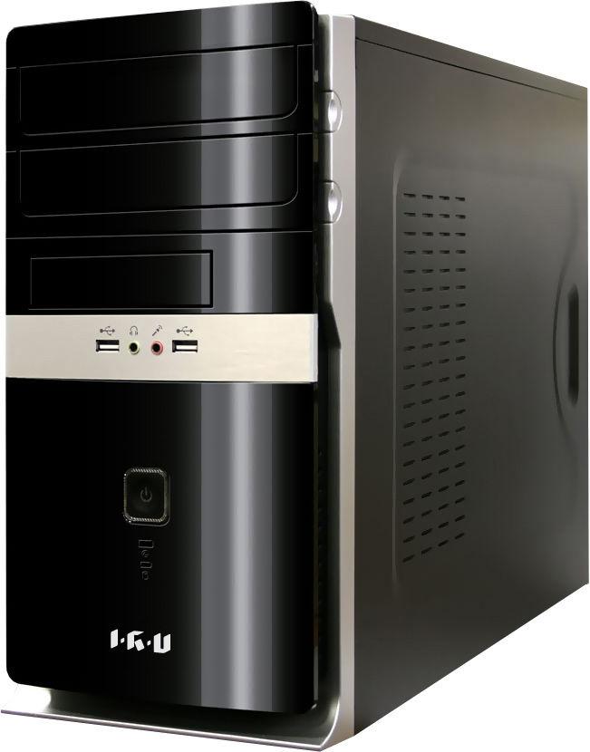 Компьютер  IRU City 310,  Intel  Core i3  4160,  DDR3 4Гб, 500Гб,  Intel HD Graphics 4400,  DVD-RW,  Windows 10 Home,  черный [317056]