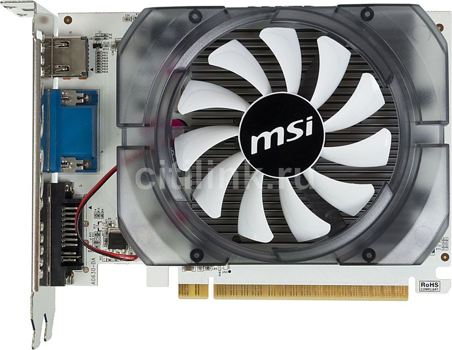Видеокарта MSI GeForce GT 730,  N730-2GD3V2,  2Гб, DDR3, Ret
