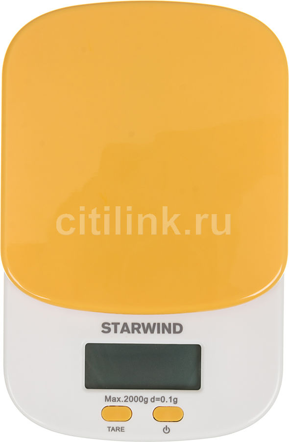 Весы кухонные STARWIND SSK2158,  оранжевый