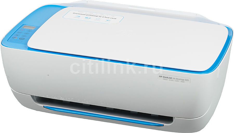 МФУ HP DeskJet Ink Advantage 3635, A4, цветной, струйный, белый [f5s44c] мфу hp deskjet ink advantage 3635 all in one f5s44c