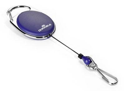 Рулетка для бейджа Durable 8327-07 Style 80см карабин синий