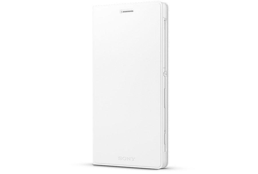 Чехол (флип-кейс) SONY SCR38, для Sony Xperia C4, белый [scr38 white]