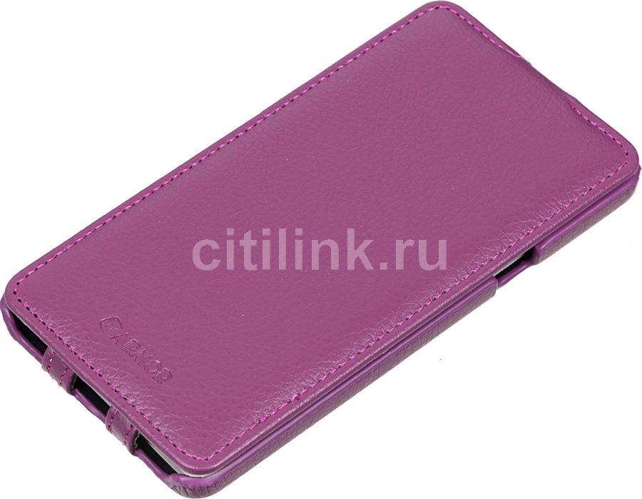 Чехол (флип-кейс) ARMOR-X flip full, для Samsung Galaxy A7, пурпурный