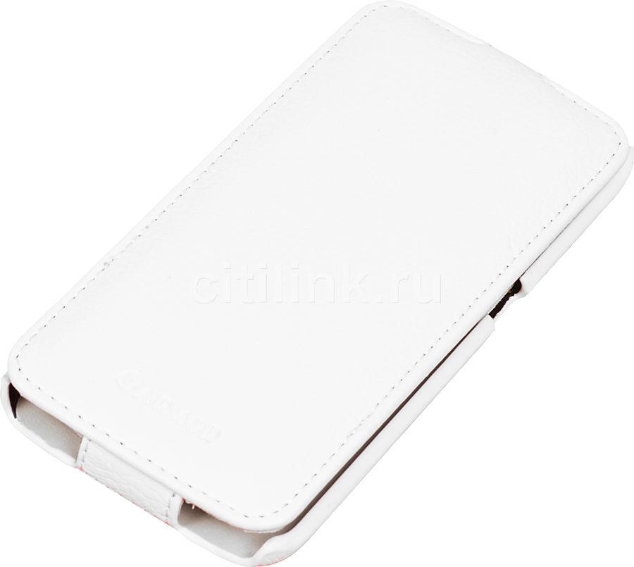 Чехол (флип-кейс) ARMOR-X flip full, для Samsung Galaxy S6 Edge, белый
