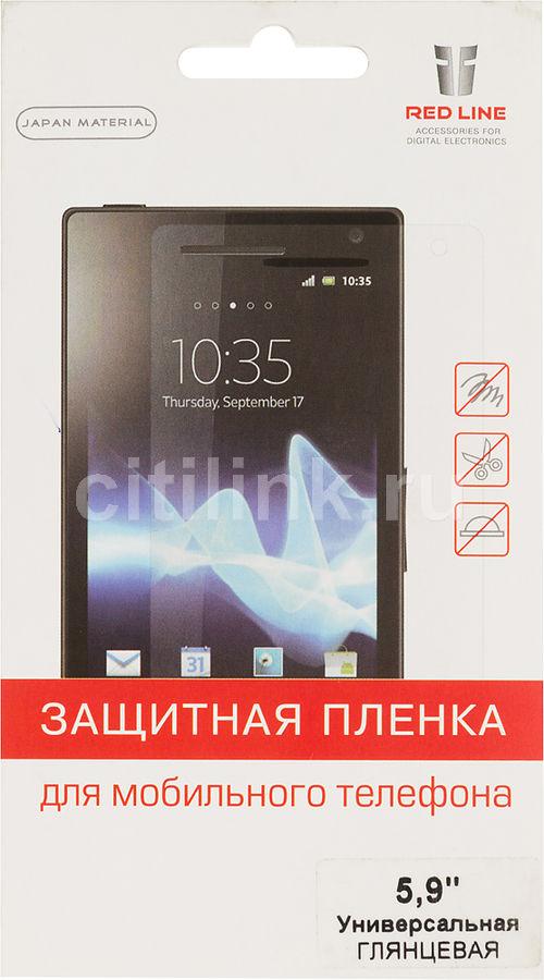 "Защитная пленка для экрана REDLINE для смартфонов 5.9"",  37 х 131 мм, прозрачная, 1 шт [ут000000009]"