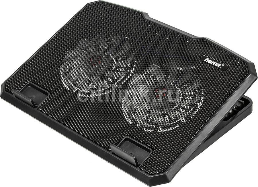 """Подставка для ноутбука Hama (00053065) 15.6""""370x270x30мм 23дБ 2x 140ммFAN 802г пластик черный"""