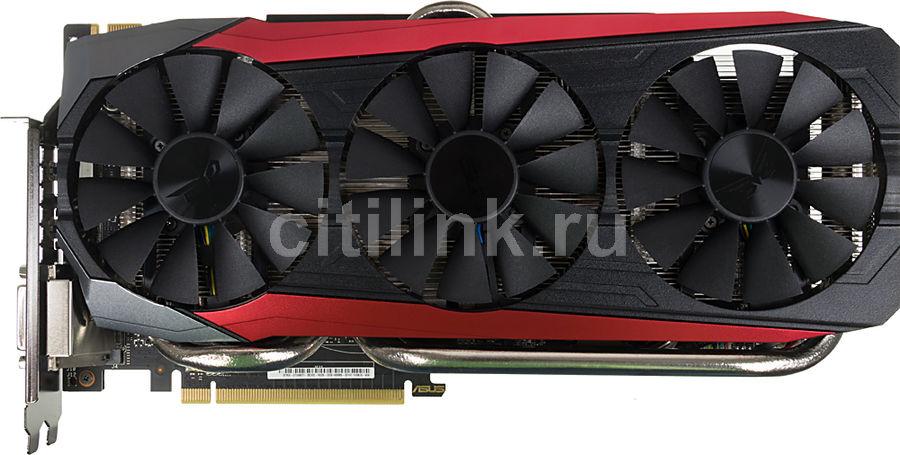 Видеокарта ASUS GeForce GTX 980TI,  STRIX-GTX980TI-DC3OC-6GD5 GAMING,  6Гб, GDDR5, OC,  Ret