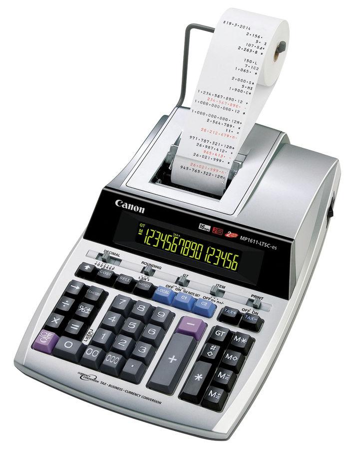 Калькулятор CANON MP1611-LTSC-ES,  16-разрядный, серебристый
