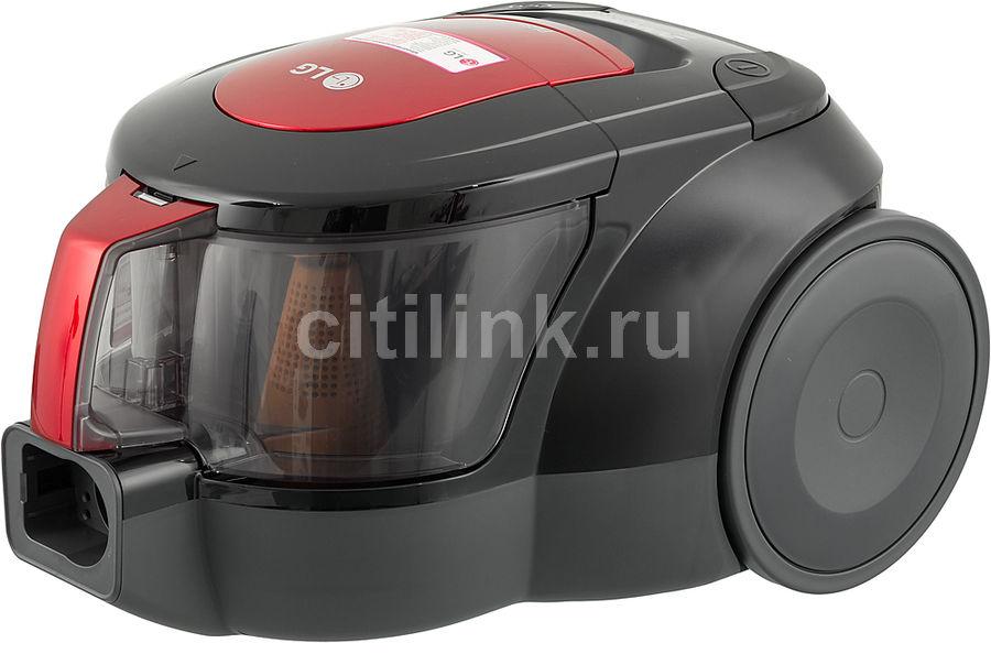 Пылесос LG VK705W06N, 2000Вт, красный/черный