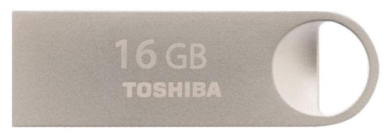 Флешка USB TOSHIBA Owari U401 16Гб, USB2.0, серебристый [thn-u401s0160e4]