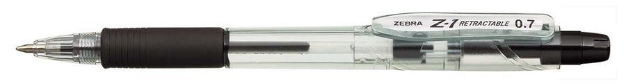 Ручка шариковая Zebra Z-1 RETRACTABLE (BP076-BK) авт. 0.7мм черный