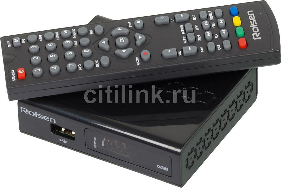 Ресивер DVB-T2 ROLSEN RDB-525,  черный [1-rldb-rdb-525]