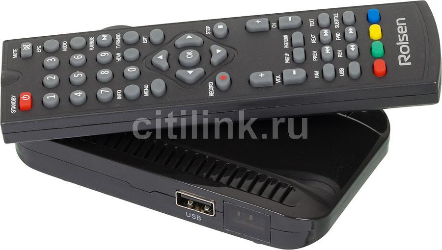 Ресивер DVB-T2 ROLSEN RDB-526,  черный [1-rldb-rdb-526]