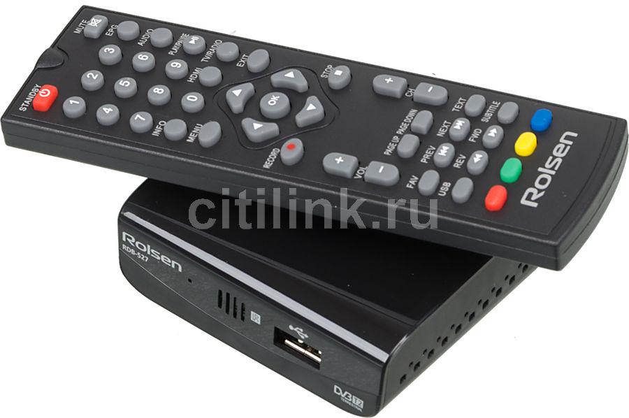 Ресивер DVB-T2 ROLSEN RDB-527,  черный [1-rldb-rdb-527]