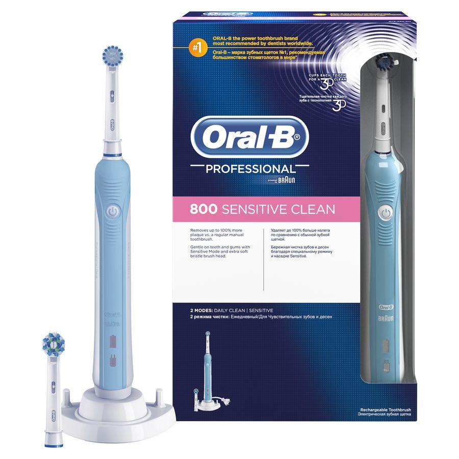 Электрическая зубная щетка ORAL-B Professional Care 800 белый