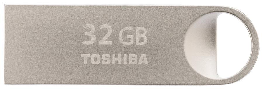 Флешка USB TOSHIBA Owari U401 32Гб, USB2.0, серебристый [thn-u401s0320e4]
