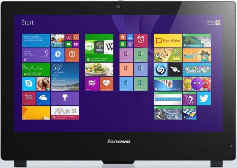 Моноблок LENOVO S50 30, Intel Pentium 3805U, 4Гб, 500Гб, Intel HD Graphics,  HD Graphics, DVD-RW, Free DOS, черный [f0ba005hrk]