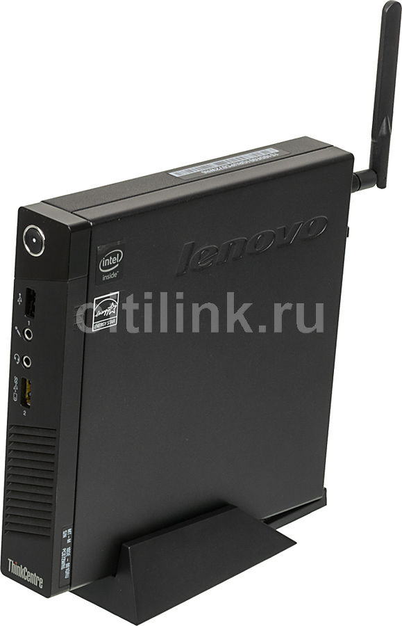 Компьютер  LENOVO ThinkCentre M53 Tiny,  Intel  Celeron  J1800,  DDR3 2Гб, 500Гб,  Intel HD Graphics,  Windows 8.1,  черный [10de001qru]