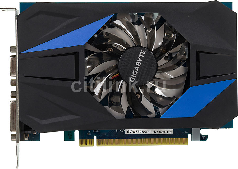 Видеокарта GIGABYTE GeForce GT 730,  GV-N730D5OC-1GI,  1Гб, GDDR5, OC,  Ret